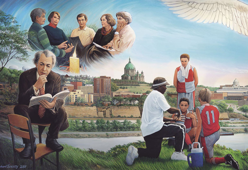 Grasped by the Holy Spirit mural