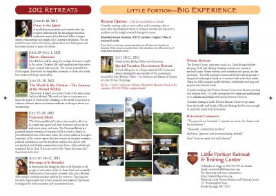 Retreat Center brochure schedule 2012-r2-p2